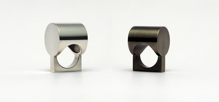Ring, silver, titanium