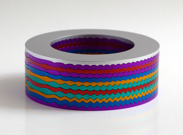 Bangle, anodized aluminium